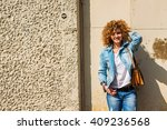 fashion shot of a beautiful... | Shutterstock . vector #409236568