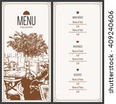 restaurant menu design. vector... | Shutterstock .eps vector #409240606