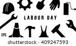international labour day concept | Shutterstock .eps vector #409247593