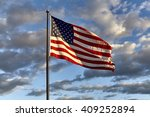 American Flag On Flagpole...