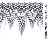 isolated crocheted lace border...   Shutterstock .eps vector #409254223
