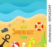 summer beach vector... | Shutterstock .eps vector #409263349
