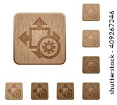 set of carved wooden size...