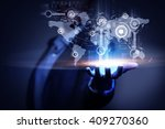 whole world in hands    Shutterstock . vector #409270360
