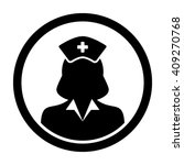 nurse icon   vector | Shutterstock .eps vector #409270768