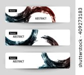 banner set with abstract... | Shutterstock .eps vector #409273183