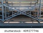 abstract design under bleachers.... | Shutterstock . vector #409277746