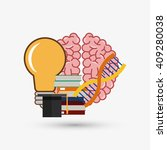 colorful science design over... | Shutterstock .eps vector #409280038