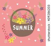 hand drawn baby cute vector sun ... | Shutterstock .eps vector #409286203