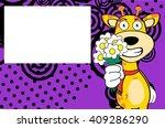giraffe cartoon expression... | Shutterstock .eps vector #409286290