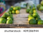limes laid out on a bench to...   Shutterstock . vector #409286944