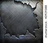 crack metal background template ... | Shutterstock . vector #40929388
