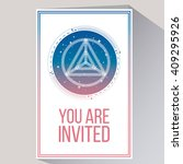 you are invited in white color... | Shutterstock .eps vector #409295926