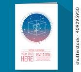 geometry invitation in blue... | Shutterstock .eps vector #409295950