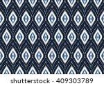 geometric ethnic oriental ikat... | Shutterstock .eps vector #409303789