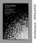 silver glitter background. ... | Shutterstock .eps vector #409314433
