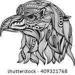 Eagle Head Zentangle Stylized....