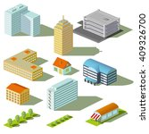 houses and buildings isolated... | Shutterstock . vector #409326700