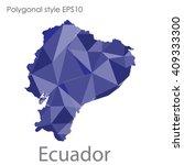 ecuador map in geometric... | Shutterstock .eps vector #409333300