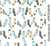 seamless pattern of doddle... | Shutterstock .eps vector #409334848