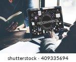 programming digital computer... | Shutterstock . vector #409335694