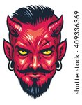 demon head | Shutterstock .eps vector #409336369