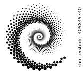 design spiral dots element.... | Shutterstock .eps vector #409349740