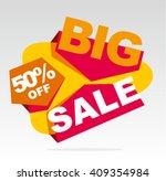 big sale banner. vector... | Shutterstock .eps vector #409354984