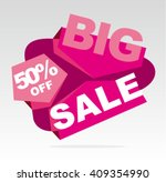 big sale banner. vector... | Shutterstock .eps vector #409354990