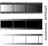 editable film stripe set | Shutterstock .eps vector #40936165