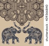 Original Indian Pattern With...