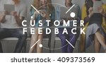 customer feedback questions... | Shutterstock . vector #409373569