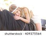 portrait of little girl... | Shutterstock . vector #409375564