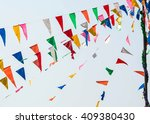 colorful bunting or triangle... | Shutterstock . vector #409380430