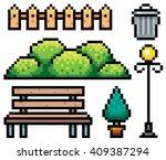 vector illustration of park... | Shutterstock .eps vector #409387294