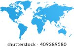 blue similar world map blank...   Shutterstock . vector #409389580