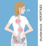 bad posture  woman's body... | Shutterstock .eps vector #409397683