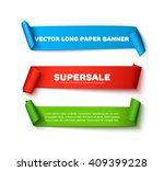 set of colorful horizontal... | Shutterstock .eps vector #409399228