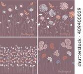 set of seamless grassy textures.... | Shutterstock .eps vector #409400029