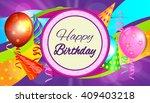birthday. | Shutterstock .eps vector #409403218