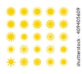 sun icon set. star logo icon.... | Shutterstock .eps vector #409405609