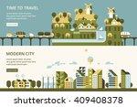 infographic   modern city ... | Shutterstock .eps vector #409408378