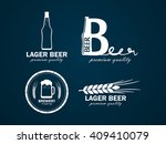 logos beer with a picture of... | Shutterstock . vector #409410079