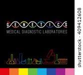 genetics logo of medical clinic ... | Shutterstock .eps vector #409412608