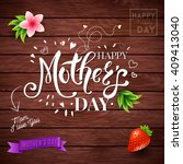happy mothers day card design... | Shutterstock .eps vector #409413040