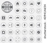 web vector icons set  internet... | Shutterstock .eps vector #409414654