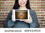 extended warranty guaranteed... | Shutterstock . vector #409414924