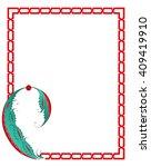 tile motif design in frame | Shutterstock .eps vector #409419910