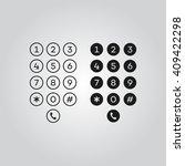 user interface keypad for phone | Shutterstock .eps vector #409422298