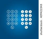 user interface keypad for phone | Shutterstock .eps vector #409422343